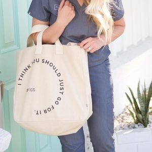 Figs Canvas Go For It Tote Bag